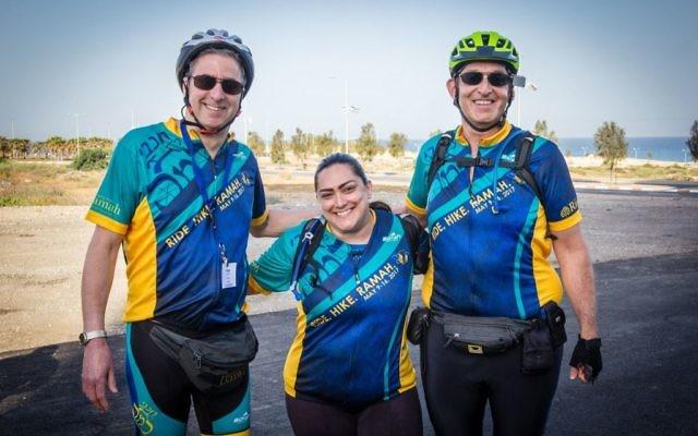 Tikvah Directors ready to bike. Courtesy of Howard Blas