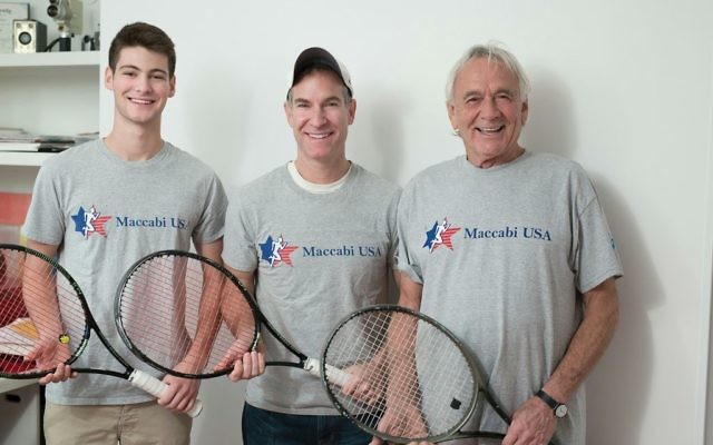 Michael Jurick, center, will compete this summer with his son, Jonah, left, and father-in-law, Avram Woidislawsky. PHOTO COURTESY MICHAEL JURICK