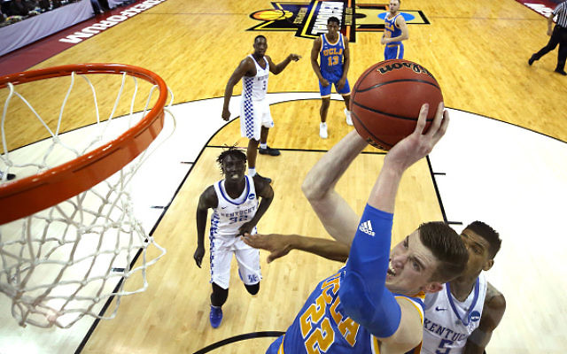 TJ Leaf of the UCLA Bruins goes up with the ball against Malik Monk #5 of the Kentucky Wildcats in the first half during the 2017 NCAA Men's Basketball Tournament South Regional at FedExForum on March 24, 2017 in Memphis, Tennessee. Getty Images
