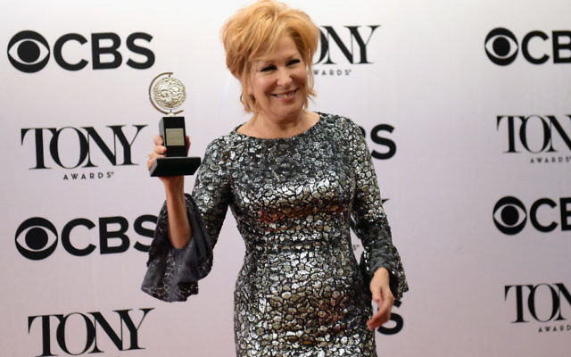 "Bette Midler accepts the award for Best Performance by an Actress in a Leading Role in a Musical for ""Hello, Dolly!"" onstage during the 2017 Tony Awards at Radio City Music Hall on June 11, 2017 in New York City. Getty Images"
