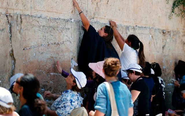 Jewish women pray at the women's section of the Western Wall in Jerusalem on June 27, 2017. Israel's shelving of a deal to allow men and women to pray together at the Western Wall echoed far beyond religion on June 26, 2017 with Prime Minister Benjamin Netanyahu accused of abandoning reform efforts for political gain. Getty Images