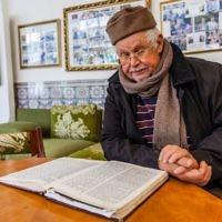 Studying at Maimonides Center in Fez, Morocco. Courtesy of Richard Nowitz