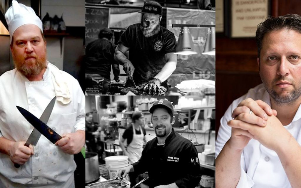 Four grill masters share their secrets for the perfect Fourth of July BBQ. Clockwise from left; Alexander Remer of Fireside bistro in Monsey; Izzy Eidelman of Izzy's Smokehouse in Crown Heights; Mark Hennessey of Le Marais in Manhattan; Bryan Gryka of Milt's Barbecue for the Perplexed in Chicago. Courtesy