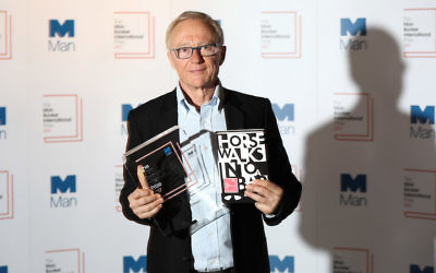 "David Grossman. winner of the Man Booker International Prize 2017 for his book ""A Horse Walks into a Bar."" He has been vocal about his criticism of the Israeli government. Getty Images"