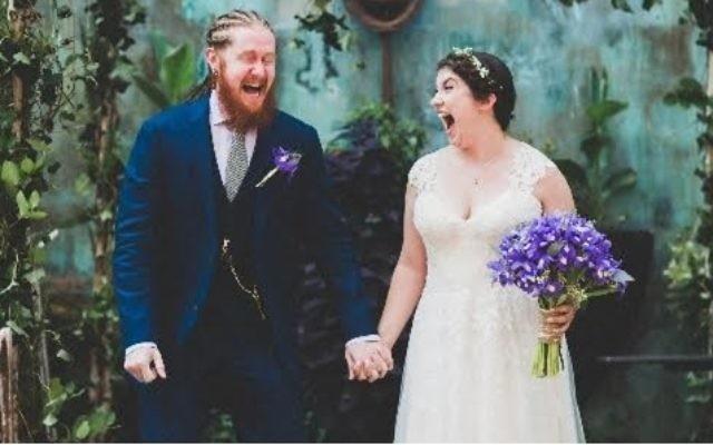 Jeremy Rosen and Sam Joachim, were married in New York on August 6, 2016. Courtesy of Elvira Kalviste Photography