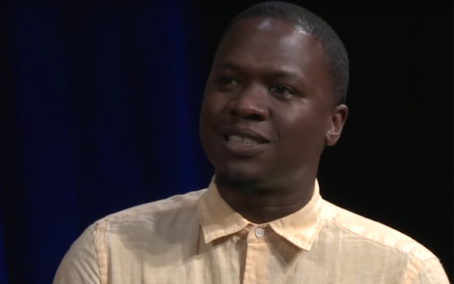 Juan M Thompson on a panel for BRIC TV in Brooklyn, Jun. 24, 2015 (You Tube/BRIC TV)