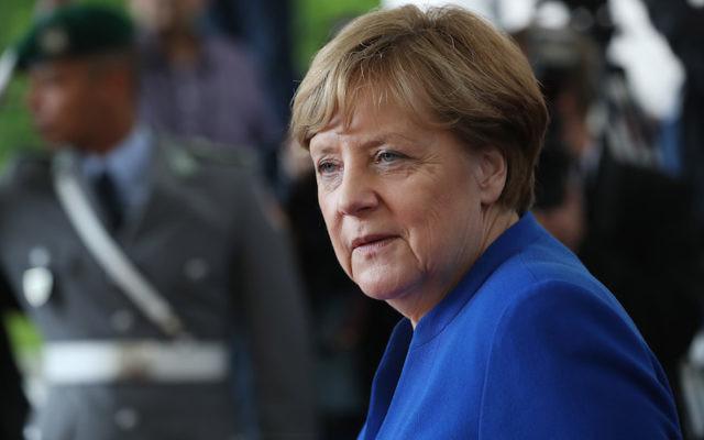 German Chancellor Angela Merkel in Berlin, June 12, 2017. JTA