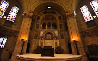 Illustrative image of a synagogue; the KAM Isaiah Israel Synagogue in Chicago, Oct. 20, 2013. JTA