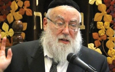 """Who gave you, the Conservative and the Reform, the authority to make up a new religion?"" argued Rabbi Nachum Eistenstein, the chief rabbi of a Jerusalem charedi neighborhood. Courtesy of Rabbi Nachum Eistenstein"
