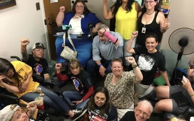 Denver ADAPT going strong in Senator Gardner's office. Courtesy of ADAPT