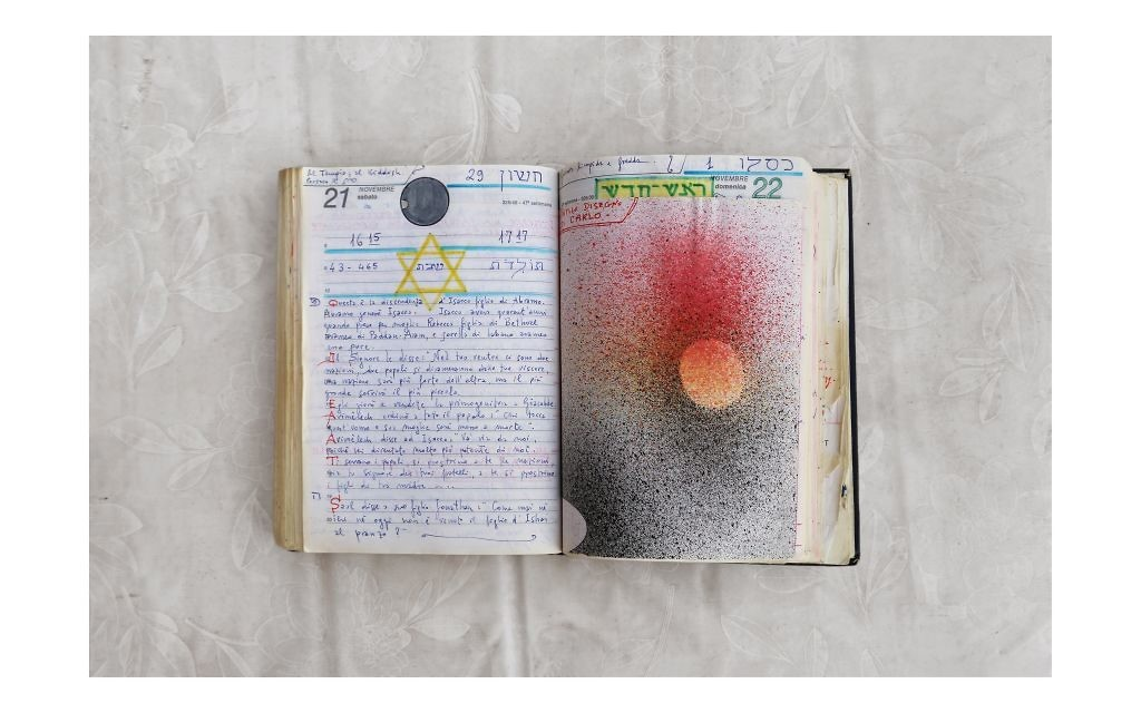 One of Aldo Izzo's journal pages from 2017, part of Hadassa Goldvicht's show. Courtesy