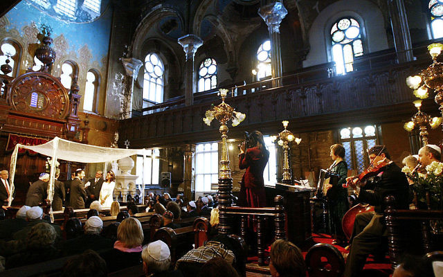 An illustrative photo of a synagogue. This one, the Eldridge Street Synagogue in Manhattan's lower east. Less and less non-orthodox jews are becoming involved in synagogue life. Getty Images