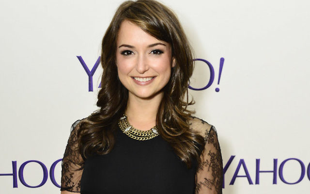 """Actress Milana Vayntrub attending the Yahoo Screen Launch Party For Paul Feig's """"Other Space"""" at The London in West Hollywood, Calif., April 14, 2015. (Jerod Harris/Getty Images for Yahoo)"""