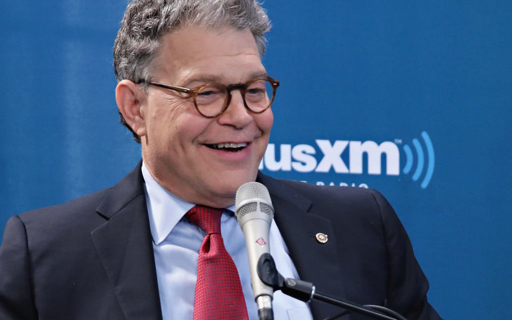 Senator Al Franken discusses politics at a SiriusXM Town Hall with host Julie Mason and The Hill's Bob Cusack on May 31, 2017 in New York City. Getty Images
