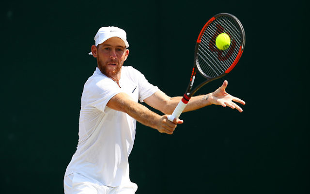 Dudi Sela of Israel plays a backhand during the Gentlemen's Singles second round match against John Isner of The United States on day four of the Wimbledon Lawn Tennis Championships at the All England Lawn Tennis and Croquet Club on July 6, 2017 in London, England. Getty Images