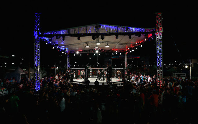 A general view of an MMA match in Daytona Beach, Florida. Aaron Rajman, an Orthodox Jewish professional mixed martial arts fighter was fatally shot in his South Florida home. JTA