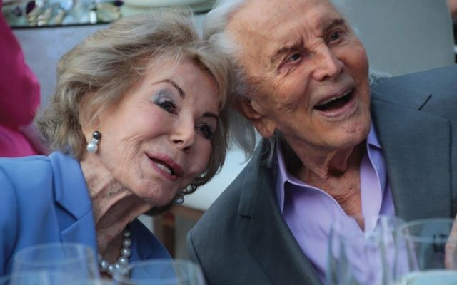 Kirk and Anne Douglas at their 60th wedding anniversary in 2014.  Christopher Briscoe
