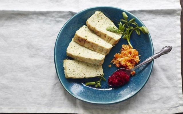 """Food photos are the calling card of modern cookbooks. Pictured here, """"The Gefilteria's"""" baked gefilte fish terrine. Courtesy"""