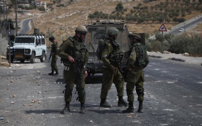 Israeli forces dealt with another stabbing attack in Takku neighborhood of Bethlehem in the West Bank on July 20, 2017. JTA