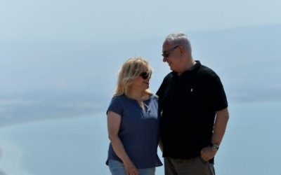 Israeli PM Benjamin Netanyahu and his wife Sara touring Israel's North, August 15, 2017. Times Of Israek
