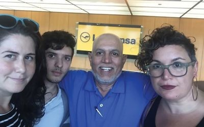 BDS activists Alana Krivo-Kaufman, Noah Habeeb, Shakeel Syed and Rabbi Alissa Wise were banned from boarding a flight to Israel. Courtesy of JVP