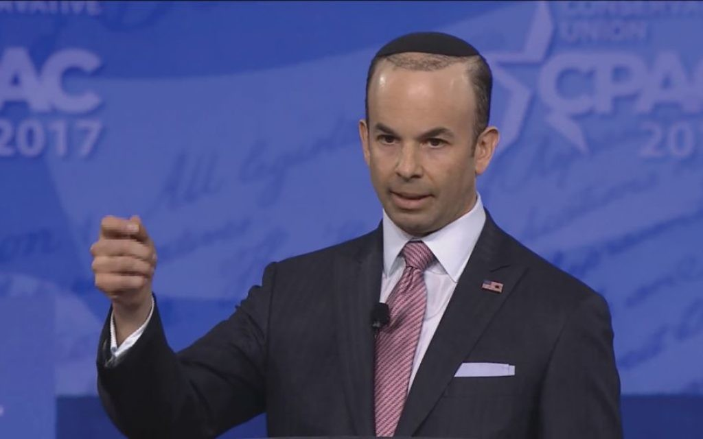 Sander Gerber speaking at recent CPAC conference. Screenshot from video of conference.