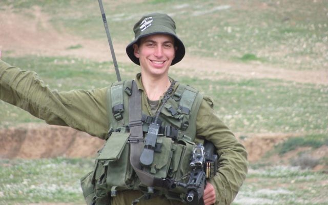Lt. Hadar Goldin was captured and killed in Gaza three years ago, but Hamas still has not returned his body for burial. Courtesy of Simha Goldin