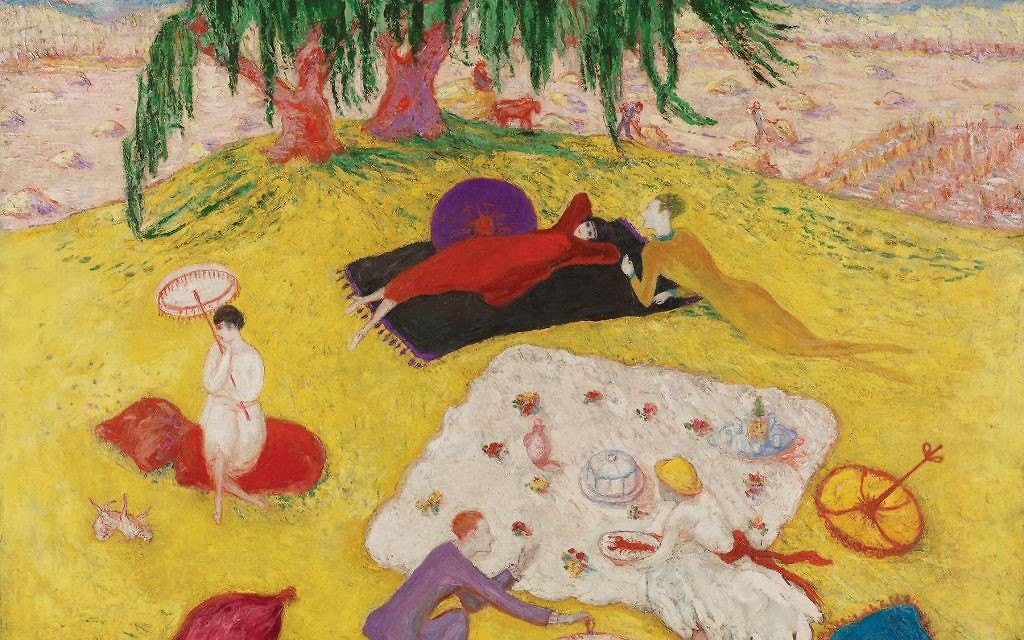 """A summer idyll: Stettheimer's """"Picnic at Bedford Hills."""" Courtesy of The Jewish Museum"""