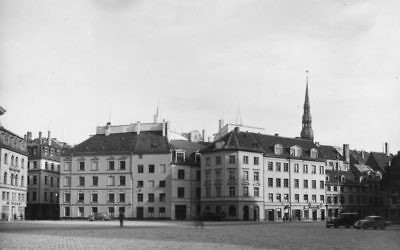 A corner of the administration section of the city of Riga, capital of Latvia circa 1950s. Getty Images