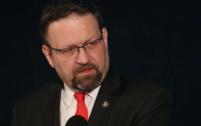 Sebastian Gorka speaking at the The Republican National Lawyers Association's National Policy Conference in Washington, D.C., May 5, 2017. (Mark Wilson/Getty Images)