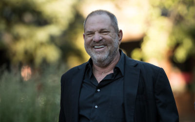 Harvey Weinstein, former co-chairman and co-founder of Weinstein Co., at a Conference in Sun Valley, Idaho. July 12, 2017. Getty Images