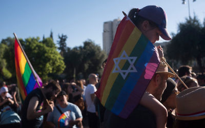 Israelis take part in the annual Gay Pride parade in Jerusalem on August 3, 2017 in Jerusalem, Israel. Getty Images