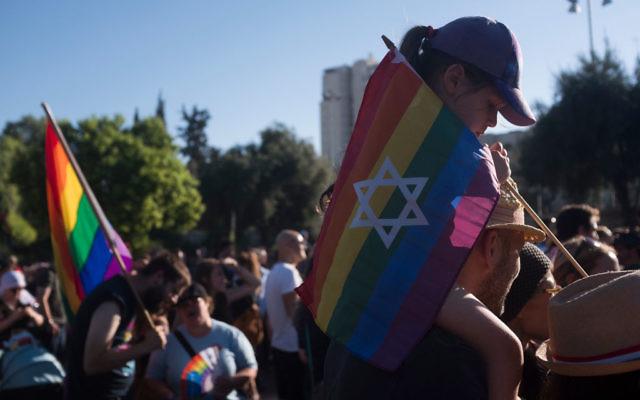 Israelis take part in the annual Gay Pride parade in Jerusalem on August 3, 2017 in Jerusalem, Israel. Getty Images