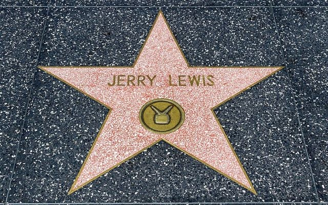Jerry Lewis' star at the Hollywood Walk Of Fame in Los Angeles, California, USA. Wikimedia Commons/Dietmar Rabich