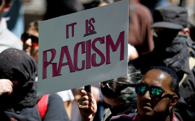 People protesting against bigotry and racism in San Francisco, Calif., Aug. 26, 2017. (Tayfun Coskun/Anadolu Agency/Getty Images)