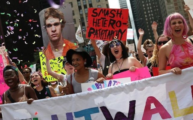 Women participate in the annual SlutWalk Chicago march against sexual violence in Chicago, August 11, 2016. (Screenshot from Facebook)