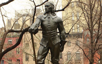 The Peter Stuyvesant statue in New York City stands in a Manhattan square named for him. (Wikimedia Commons)