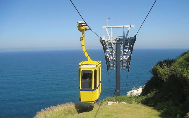 The cable car at Rosh Hanikra. Photos by Wikimedia Commons