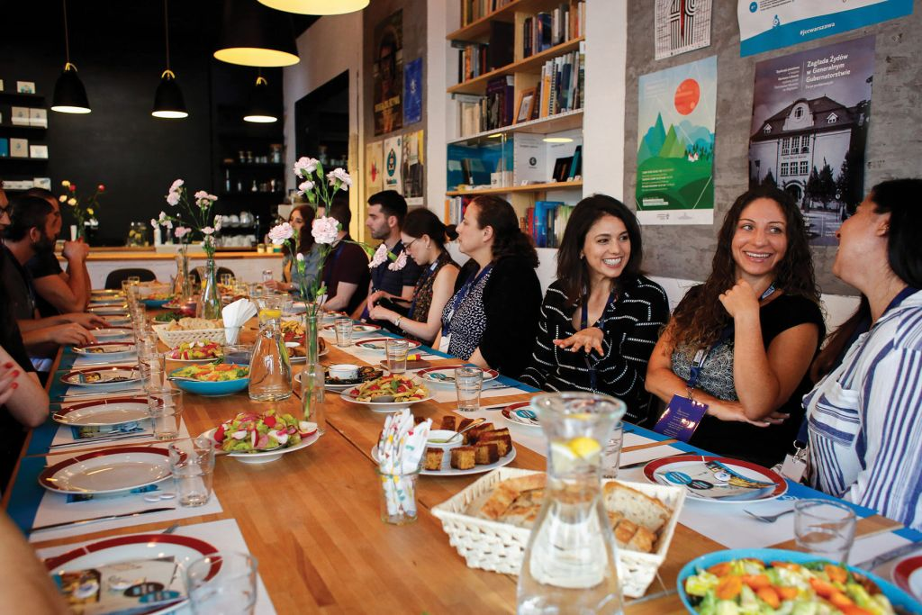 Members Of The San Francisco Jewish Community Federation Share A Meal With Warsaw Leaders