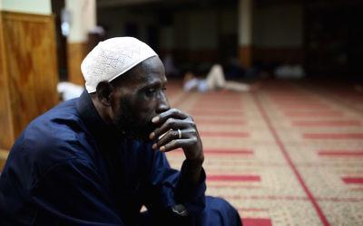 A Muslim man sitting in the Alt Takwa Mosque in Brooklyn, N.Y., June 20, 2017. (Mohammed Elshamy/Anadolu Agency/Getty Images)