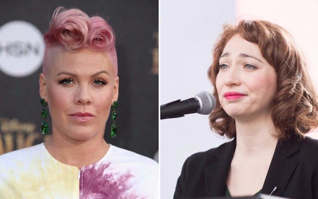 Pink, left, in 2016, and Regina Spektor in January. (Getty Images)