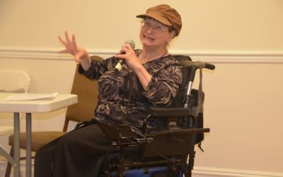 Sharon Shapiro-Lacks speaks at the Yad Empowers Alliance. Courtesy of Michael Levy