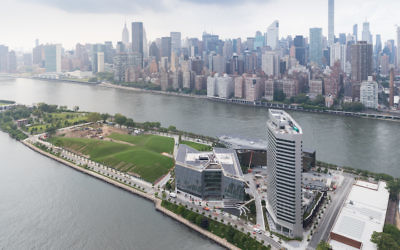 The Cornell Tech campus is located on Roosevelt Island in New York. (Iwan Baan)