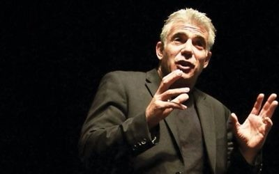 """""""We can't afford to lose Jews in the U.S.,"""" Lapid tells The Jewish Week. Getty Images"""