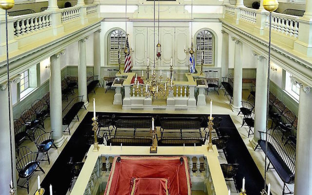 A view inside the Touro Synagogue in Newport, R.I. (Wikimedia Commons)