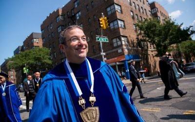 Rabbi Ari Berman was installed as the new president of Yeshiva University on Sept. 10, 2017. (Courtesy of Yeshiva University)