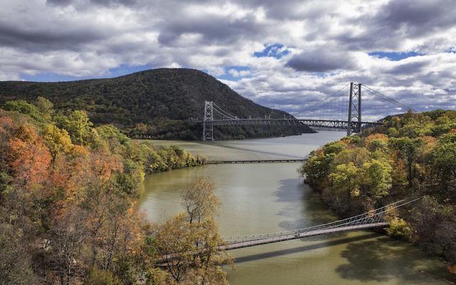 View of the Bear Mountain Bridge over Popolopen Creek feeding into the Hudson River. (John Greim/LightRocket via Getty Images)