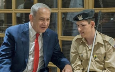 Daniel meeting the Prime Minister. Courtesy of JNF