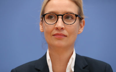 Alice Weidel, a co-head of the far right Alternative for Germany party, seen in Berlin after Germany's elections, Sept. 25, 2017. (Sean Gallup/Getty Images)