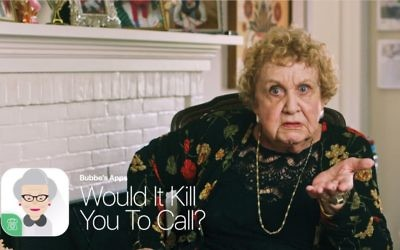 """From bubbe with love — and a reminder: New Hebrew University video touts """"Would it Kill You to Call?"""" app."""
